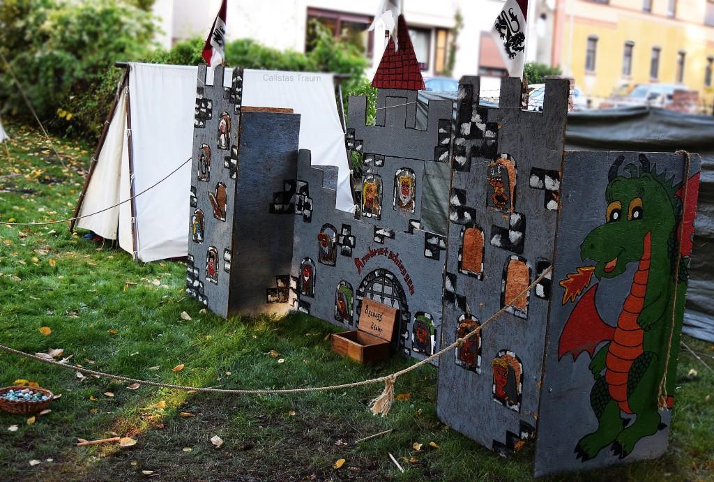 Kinderburg auf dem Mittelaltermarkt