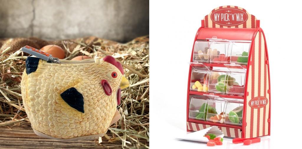 Original Hühner Geldbörse & Gefüllter Süßigkeitenstand My Pick'n'Mix