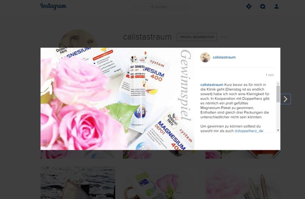 Gewinnspiel Instagram