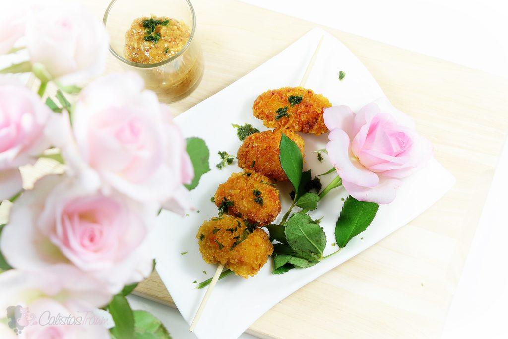 """Chicken Nuggets in Cornflakespanade mit Schamel Meerrettich-Senf """"Süss"""""""