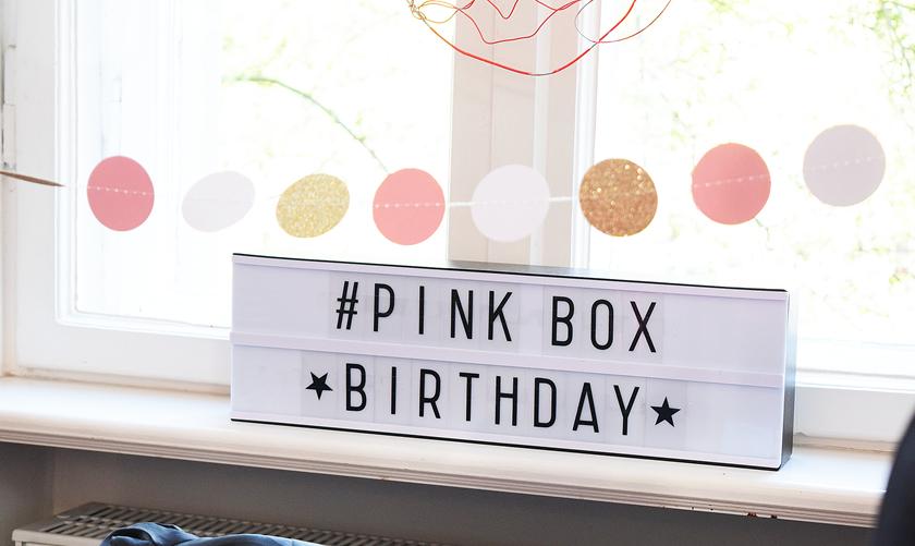 Happy Birthday! – 5 Jahre PinkBox