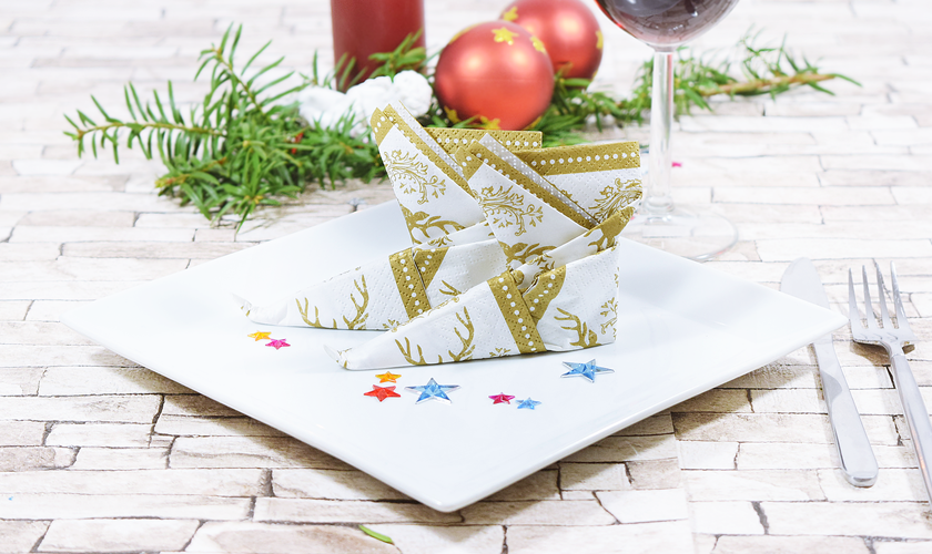 Servietten Falten F R Weihnachten Einfache Tischdeko