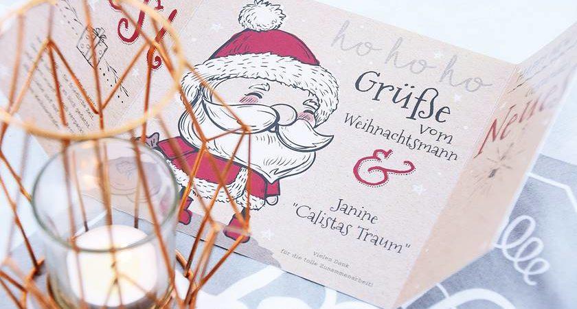 Weihnachtskarten gestalten und versenden
