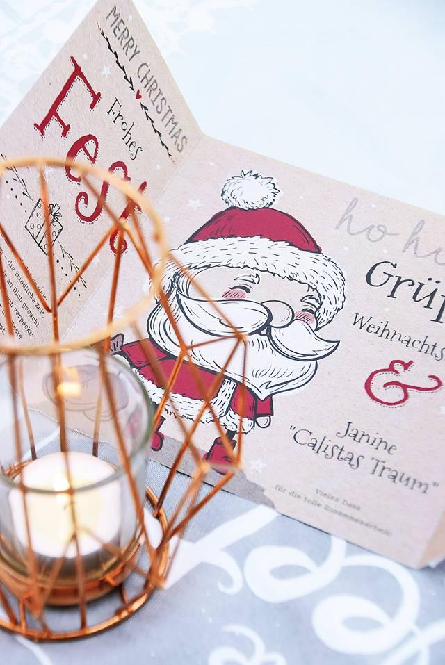 Weihnachtskarten gestalten und versenden - Calistas Traum